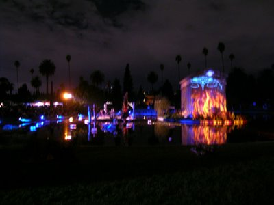 view of the lagoon crypt (with projections)